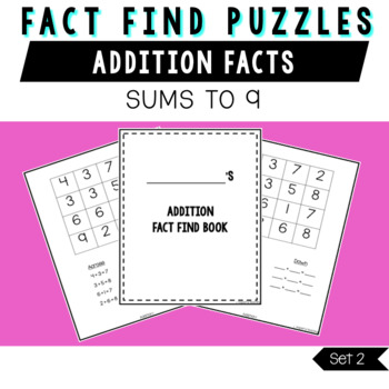 Addition Fact Find Puzzles- Set 2