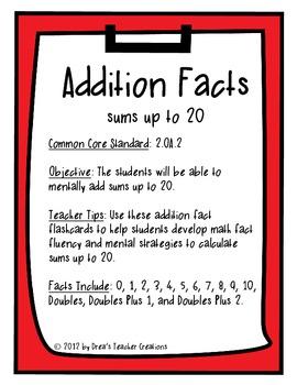 Addition Fact Flashcards