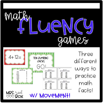 Addition Fact Fluency with Exit tickets and BRAIN BREAKS