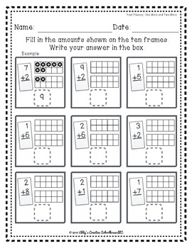 Addition Fact Fluency: Add One and Two Activities, Assessments, and Game Packet
