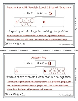 Addition Fact Fluency: Add Zero Activities, Assessments, and Game Packet