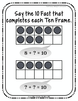 Addition Fact Fluency: Make Ten Activities, Assessments, and Game Packet