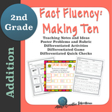 Addition Fact Fluency Making Ten Activities, Assessments, and Game Packet