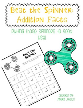 Addition Fact Fluency : Beat the Fidget Spinner