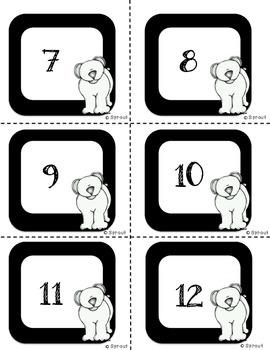 Addition Fact Fluency - Flip the Deck Winter Game!