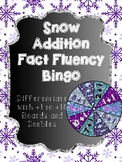 Addition Bingo Center - Winter Fact Fluency Games