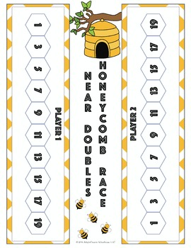 Addition Fact Fluency Near Doubles Activities, Assessments, and Game Packet