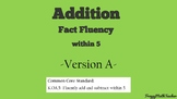 Addition Fact Fluency PowerPoint-Version A