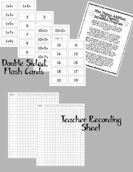 Addition Fact Fluency Program +1 through +10 Star Theme