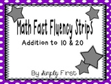 Addition Fact Fluency Strips (0-20)