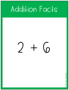 Addition Fact Fluency Task Cards