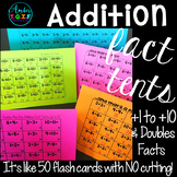 Addition Fact Fluency Tents   Addition Flash Cards