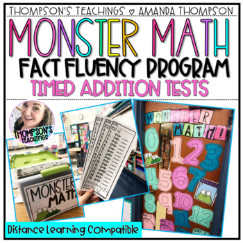 Addition Fact Fluency Tests- Monster Math