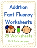 Addition Fact Fluency Worksheet Set