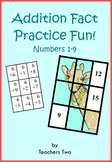 Addition Fact Fun for Numbers 1-9