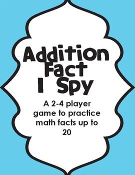 Addition Fact I-Spy