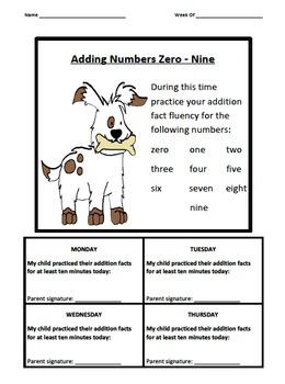 Addition Fact Logs Dog Theme (0-9)