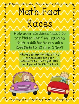 Addition Fact MATH RACES! Addends 1-10 & Doubles