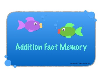 Addition Fact Memory