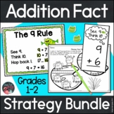 Addition Fact Strategies Bundle of Anchor Charts, Flashcar