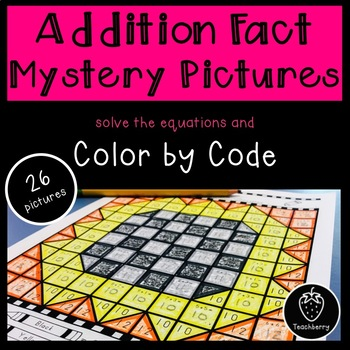 Addition Facts Mystery Pictures Color by Code