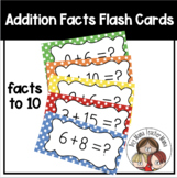 Addition Fact Practice Cards 0-10 and Record Sheet