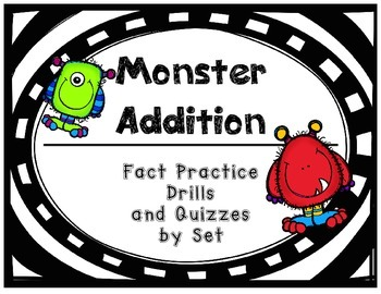 Addition Fact Practice Drills and Quizzes by Set