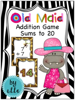 Addition Fact Practice - Old Maid Card Game {Sums to 20}