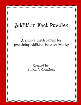 Addition Fact Puzzles