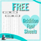 Addition Fact Sheets