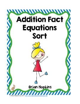 Addition Fact Sorts