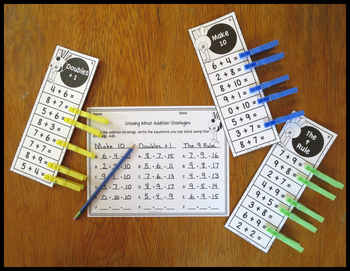 Addition Fact Strategies Crow Theme Clip Strips
