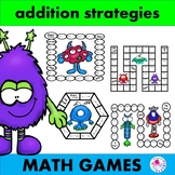 Addition Fact Strategies Games Monster Edition