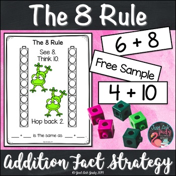 Addition Fact Strategy Adding 8 Sample