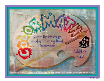Addition Fact Strategy Coloring Book NO PREP December Holi