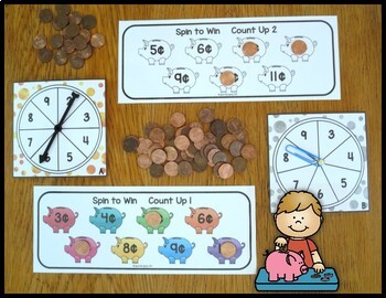 Addition Fact Strategy Count Up Piggy Banks