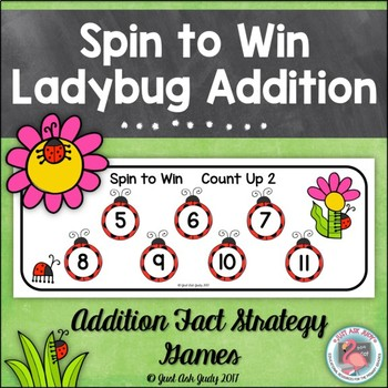 Addition Fact Strategy Games- Ladybug Spin to Win