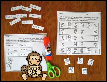 Addition Fact Strategy Monkey in the Middle Resource