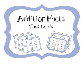 Addition Fact Task Cards - 2 Sets