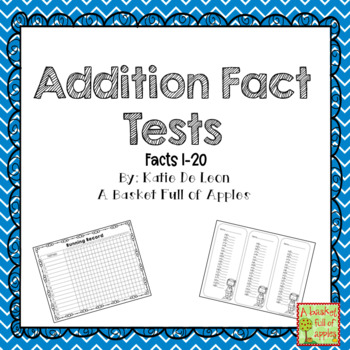 Addition Fact Tests 1-20