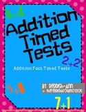 Addition Fact Timed Tests