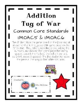 Addition Fact Tug of War Game
