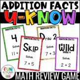 Addition Facts Practice Game: U-Know