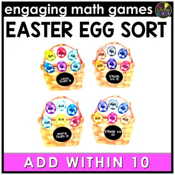Easter Math Game - Addition Facts 0-10
