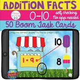 Addition Facts 0-10 Boom Digital Task Cards