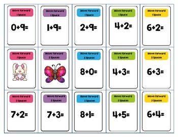Addition Facts 0-10 DVD Case Game Spring Theme