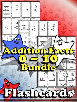 Addition Facts (0 - 10) Flashcards - Sums to 20 - BUNDLE -