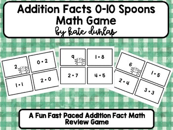 Addition Facts 0-10 Spoon Game