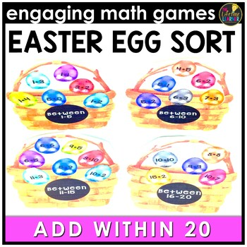 Easter  Math Game - Addition Facts 0-20