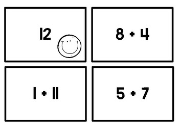 Addition Facts 0-20 Spoon Game,